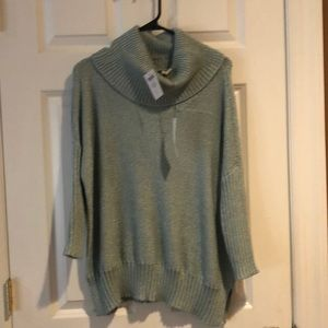 Chico's size 1, Metallic Green sweater